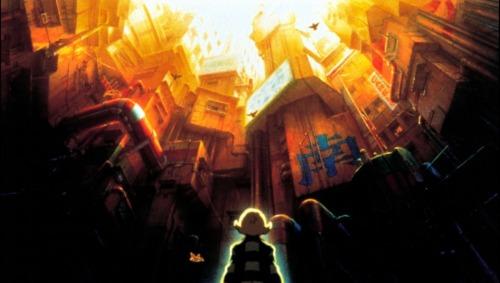 Una vista sobre la urbe desde el punto de vista de la androide protagonista.