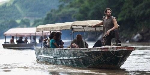 'Pijoflautas' en barca por el Amazonas.