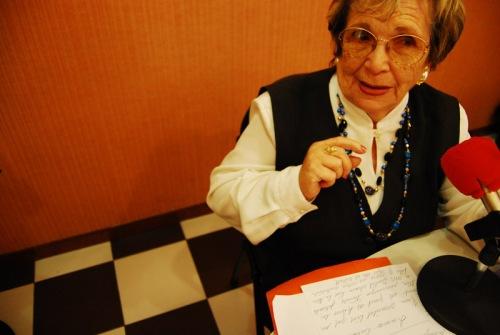 Una abuela de armas tomar.