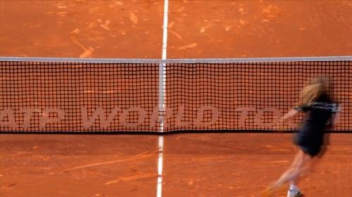 El tenista: ahora lo vez, ahora ya no.